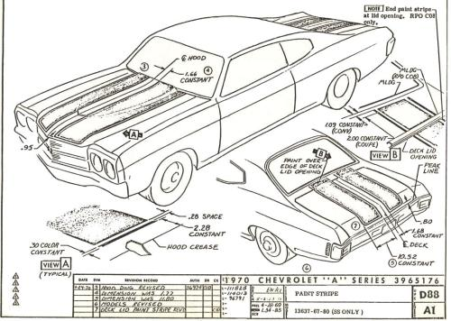 small resolution of 70 d88 a1 rev2 70 chevelle stripe dimensioning blueprints chevelle non stock 68 chevelle fuse box