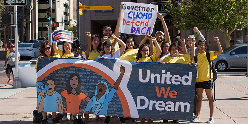 United We Dream at a Defend DACA rally