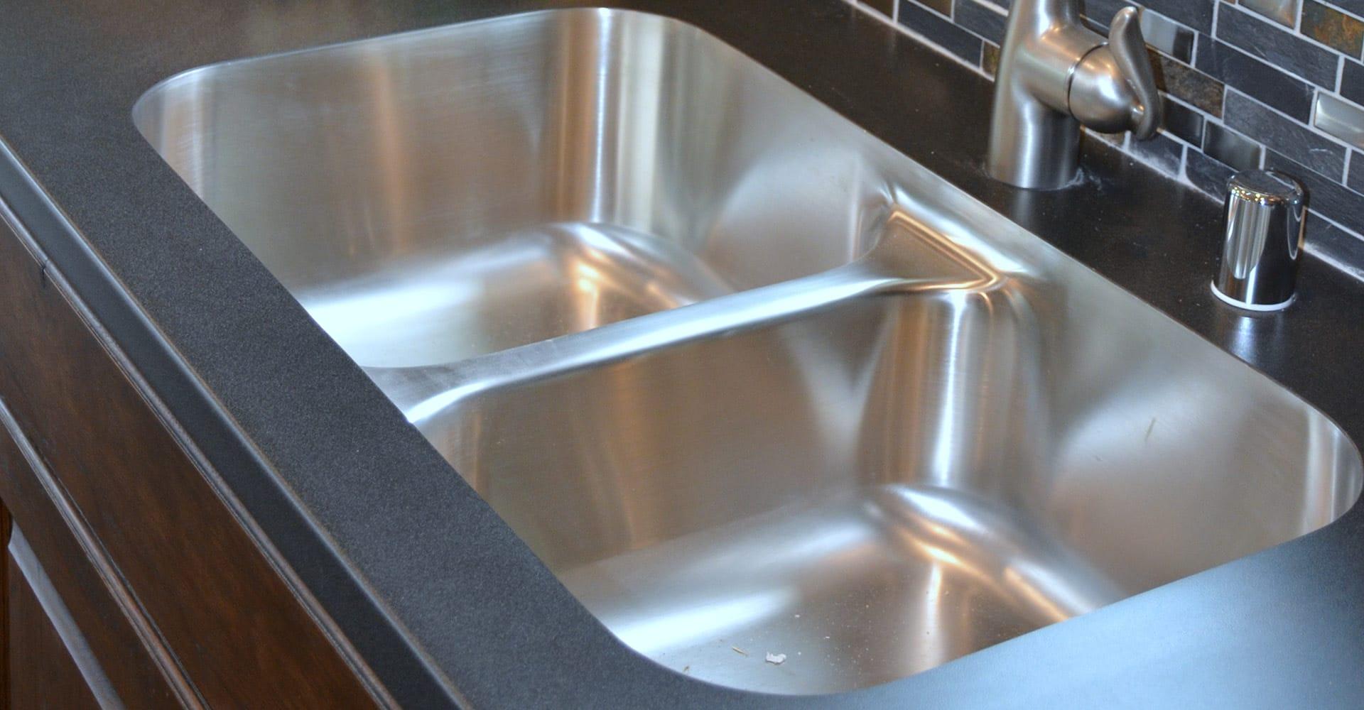 swanstone single bowl kitchen sink designer wall tiles sinks for modular homes   custom ...