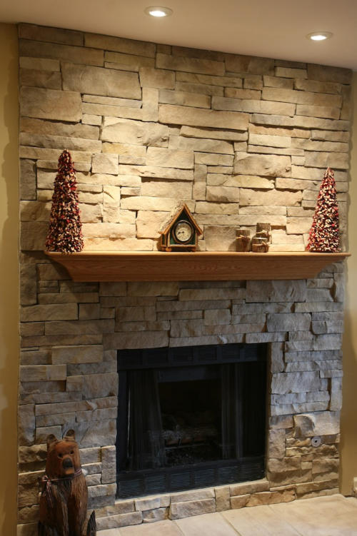 Your New Stone Fireplace With or Without Mortar Joints  North Star Stone