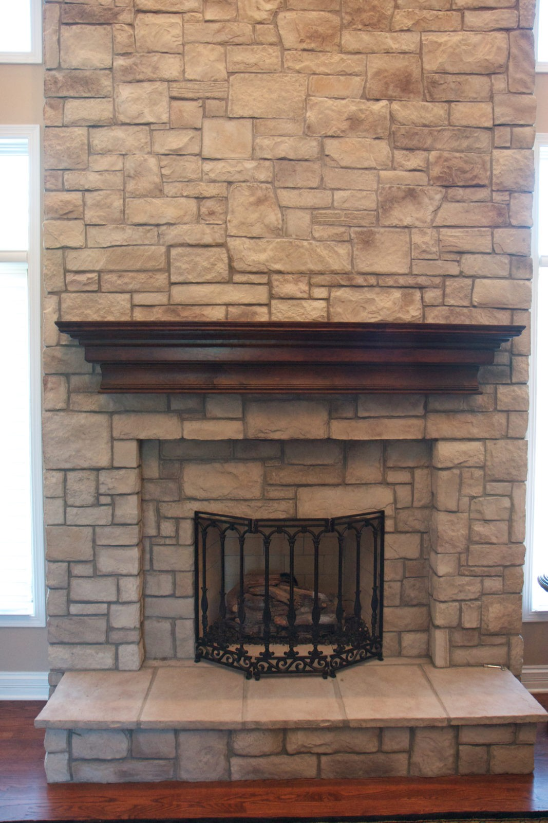 Cobble Stone Veneer For Fireplace 1
