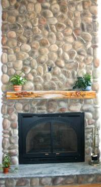 River Rock Stone Fireplace Pictures - North Star Stone