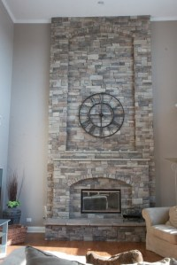 Mountain Stack Stone Fireplace Pictures - North Star Stone