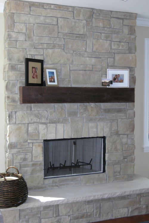 Cobble Stone Veneer Fireplace Pictures  North Star Stone