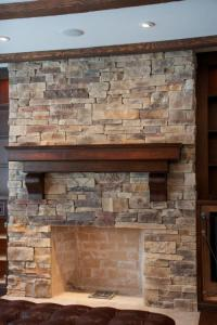 Mountain Ledge Stone Fireplace Pictures - North Star Stone