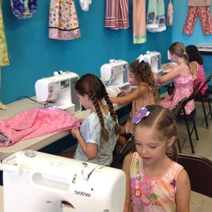 Students enjoy learning to sew at The Fabulous Fabric Shop in Redding