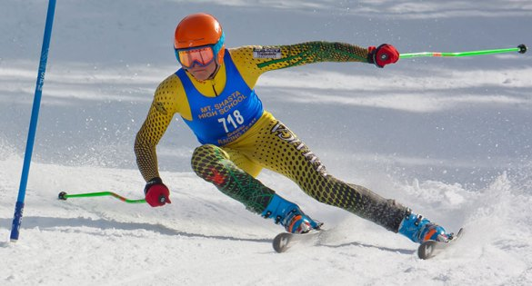 Mt. Shasta Ski Team member David Carter, CA-NV High School State Champion 2012. Photo: Mike MacAllister.