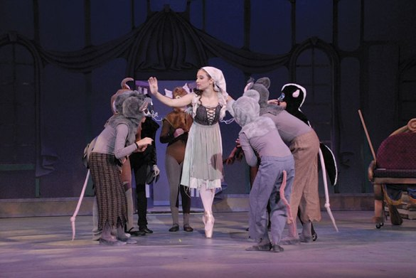 Cinderella and her animal friends. Photo: Chico Community Ballet.