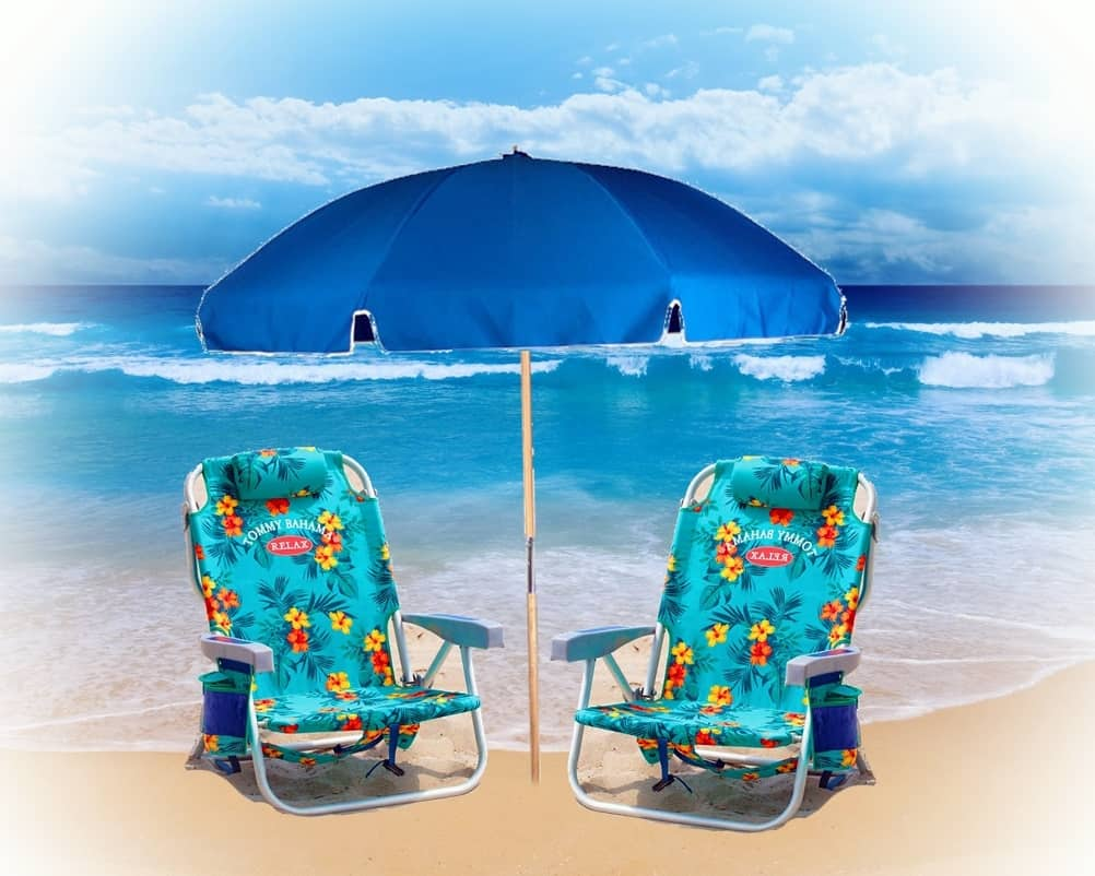 Beach Chairs With Umbrella 2 Easy Carry Beach Chairs With Easy Open Umbrella Weekly Rental