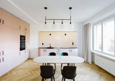Rekonstrukce bytu, Lannova ul., Praha 1