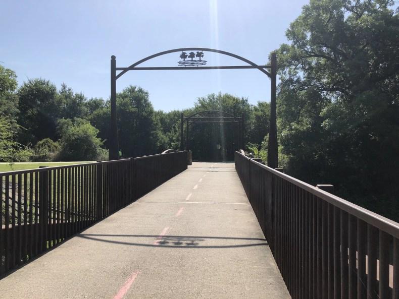 River Legacy: Concrete Path and Bridge