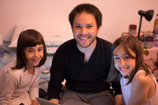Ian with Frida and Margherita in Milan, Italy on northtosouth.us