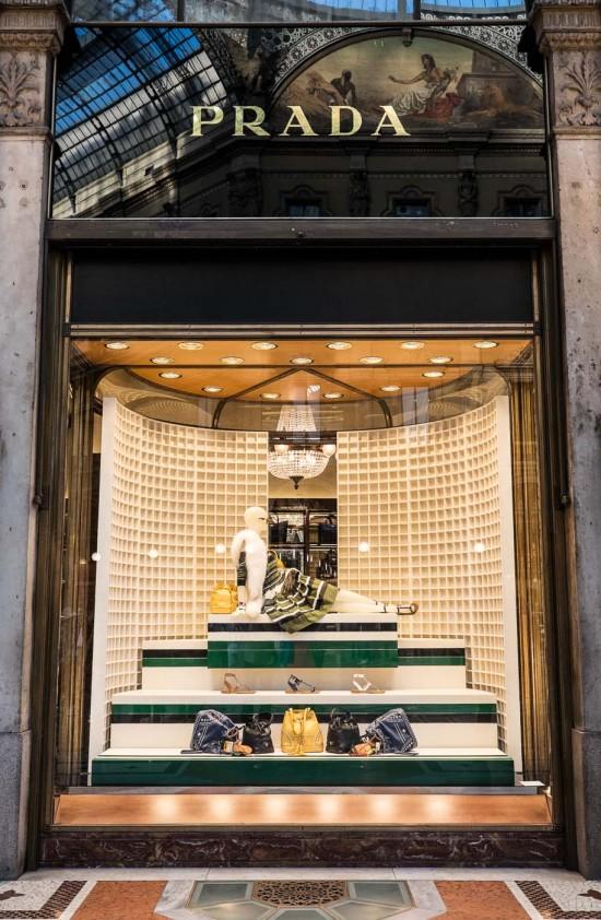 Prada store, Galleria Vittorio Emanuele II, Milan, Italy on northtosouth.us