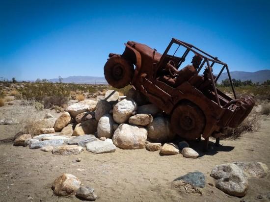 Galleta Meadows Estates desert sculptures, Borrego Springs, California, USA on northtosouth.us