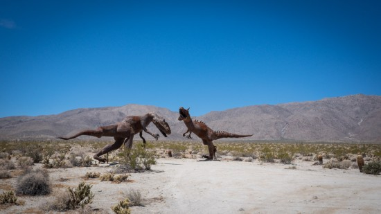 Galleta Meadows Estates desert sculptures, Borrego Springs, California, USA on northtosouth.us