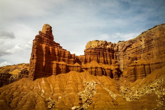 Chimney Rock at Capitol Reef National Park on northtosouth.us