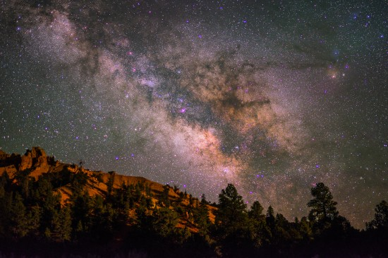 The Milky Way from Red Canyon, Dixie National Forest, Utah on northtosouth.us