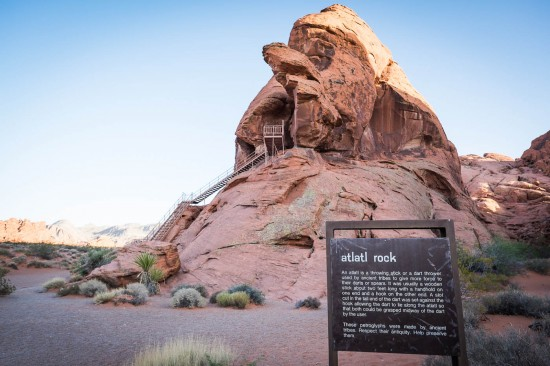 Atlatl Rock, Valley of Fire State Park, on northtosouth.us