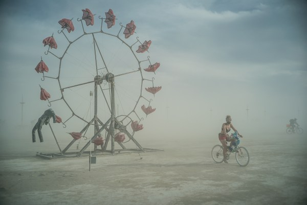 Umbrella Wheel, Burning Man 2014: In Dust We Trust - Photos of a Dusty Playa