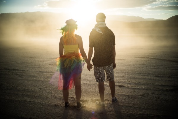 Couple in the Dust, Burning Man 2014: In Dust We Trust - Photos of a Dusty Playa