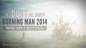 Burning Man 2014: In Dust We Trust - Photos of a Dusty Playa