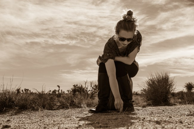 Shot of the Week: Writings in the Sand (Joshua Tree, California)