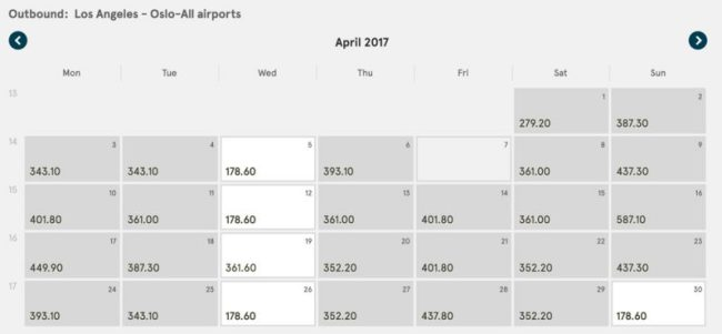 Cheap flight Los Angeles to Oslo April 2017 on Norwegian Air