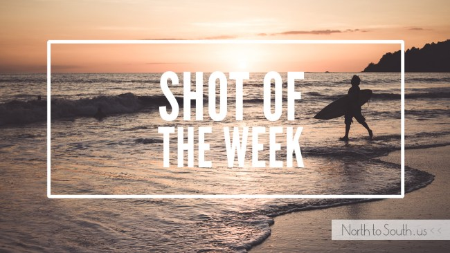 Shot of the Week: Sunset Surfer at Playa Espadilla in Manuel Antonio, Costa Rica