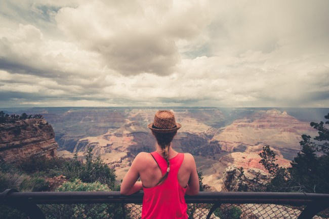 view of the Grand Canyon from the South Rim