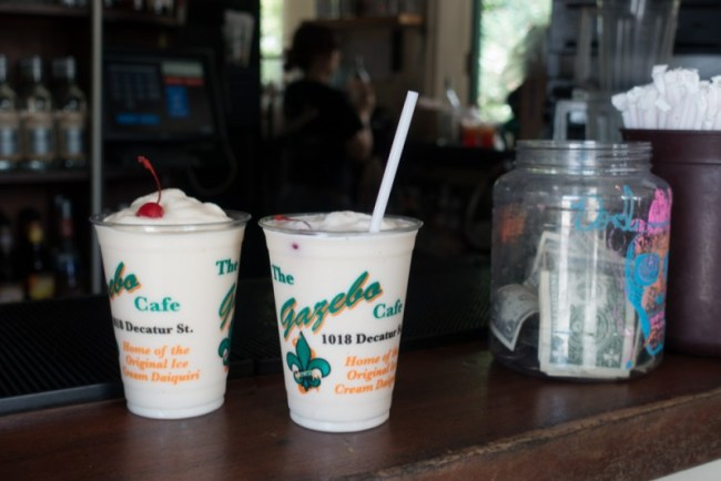 Nutty Irishman and Piña Colada ice cream drinks at the Gazebo