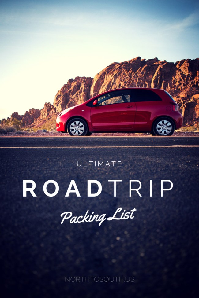 Ultimate Road Trip Packing List on North to South