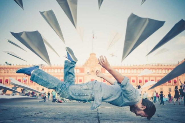 stunning travel portraits: city levitation sho