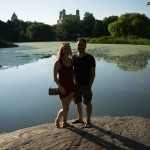 Diana Southern and Ian Norman at Turtle Pond in Central Park, NYC