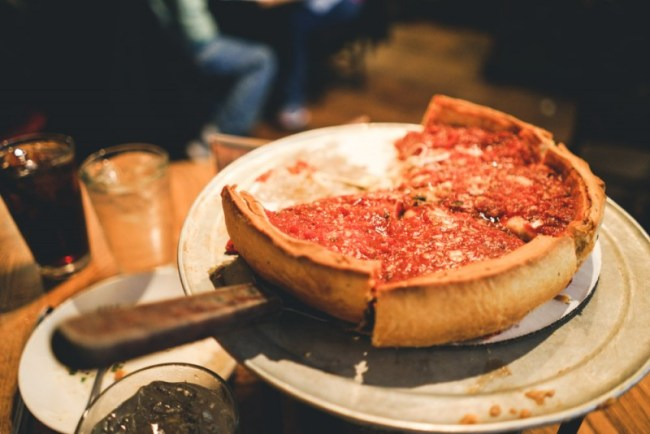 Giordano's deep dish pizza in Chicago