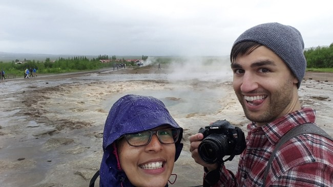 Chris Tyre and Ismary Torres in Iceland