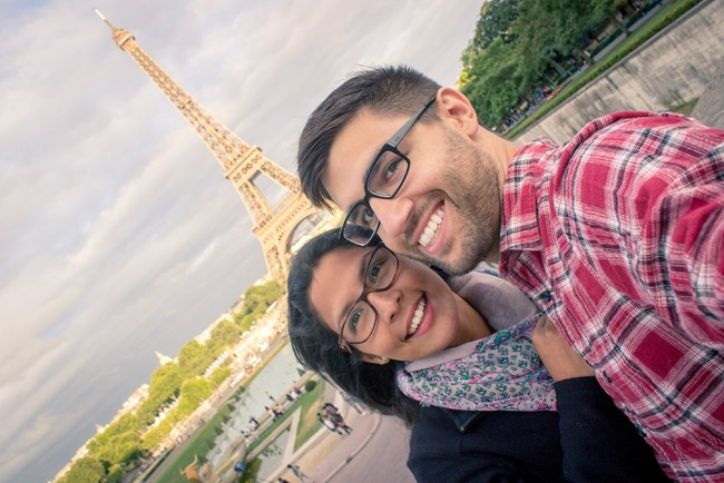 Chris Tyre and Ismary Torres in Paris