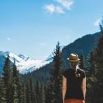 Glacier National Park lookout in summer