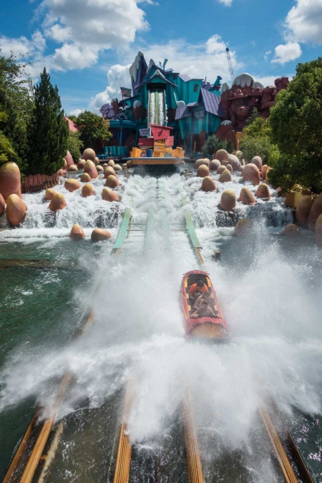 Dudley Do-Right's Ripsaw Falls ride at Islands of Adventure