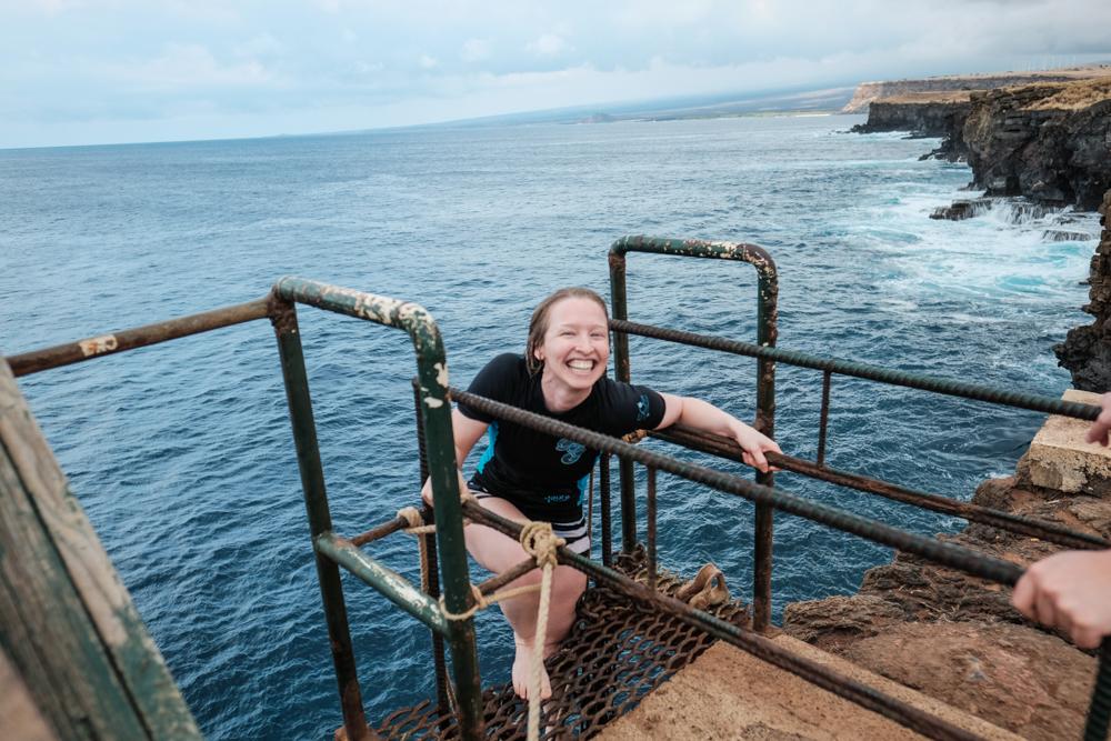 Cliff Jumping at South Point (Big Island, Hawaii, USA