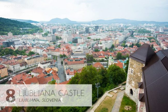 Taking the Stairs: 10 Breathtaking Viewpoints to Hike to in Europe: Ljubljana Castle, Slovenia