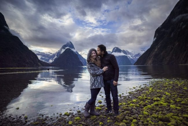 Diana Southern and Ian Norman at Milford Sound, New Zealand