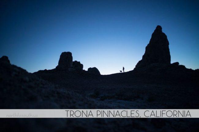 Trona Pinnacles, California at night