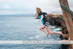 Cliff Jumping at South Point, Big Island, Hawaii