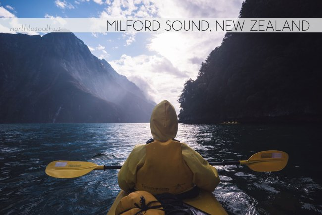 Kayaking in Milford Sound, New Zealand