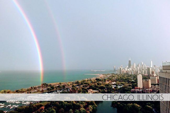 Chicago double rainbow