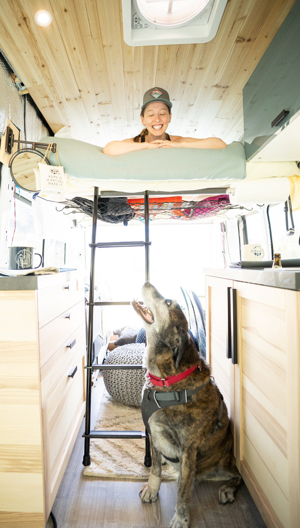 Camper van interior layout with extra space for the dog | northtosouth.us