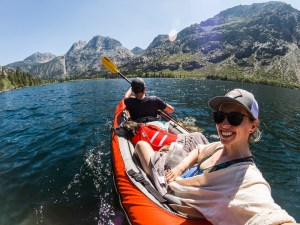 Advanced Elements Convertible Tandem Kayak review with 2 people and a large dog