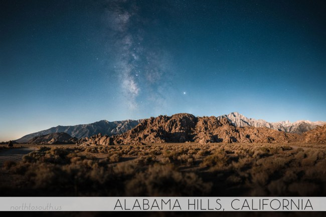North to South's Year in Review 2019 | Milky Way Moonrise at Alabama Hills, California