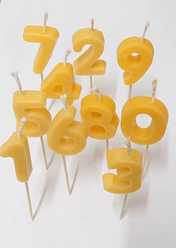 Birthday beeswax candles UK