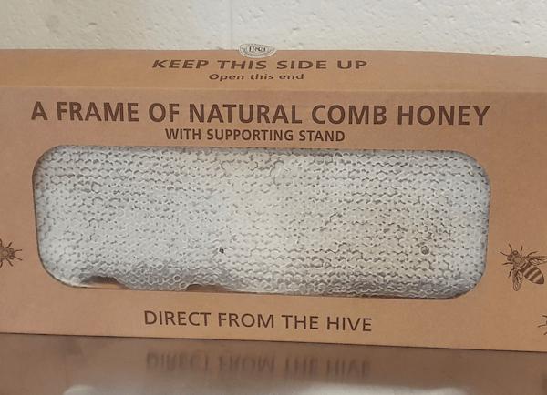 Full Frame of Heather Comb Honey